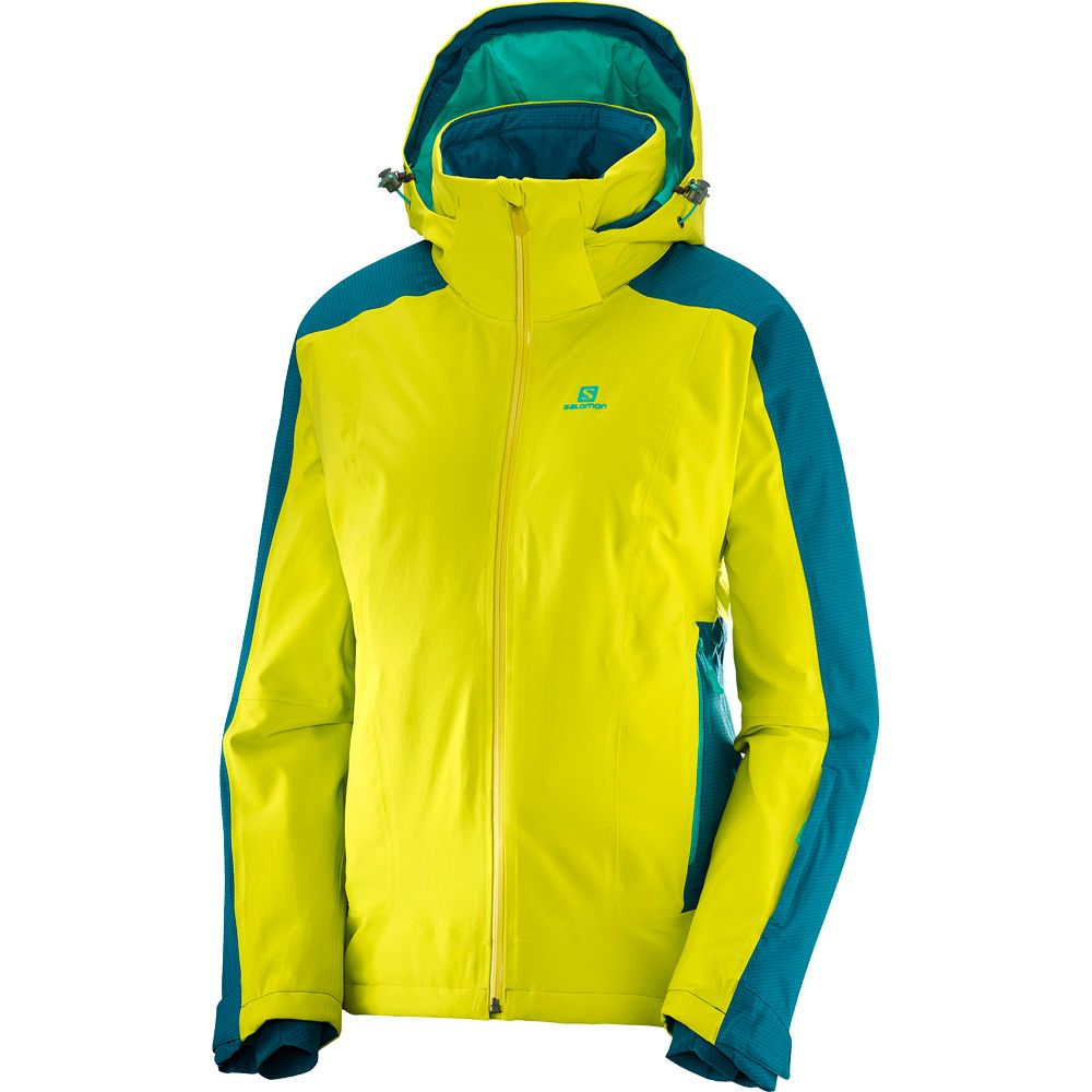 Lagoon Brilliant Spring Women Deep Salomon Jacket Sulphur bf6Y7gy