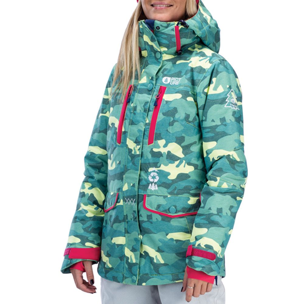 picture may jacket women blue camo print at sport bittl shop. Black Bedroom Furniture Sets. Home Design Ideas