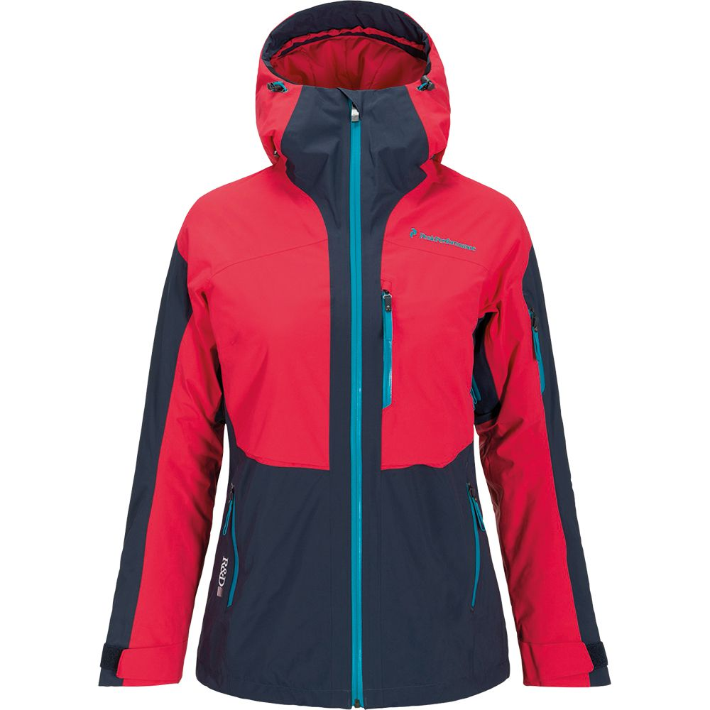 the latest b4f2c 71aaf Peak Performance - Heli Gravity Jacket Women red-blue at ...