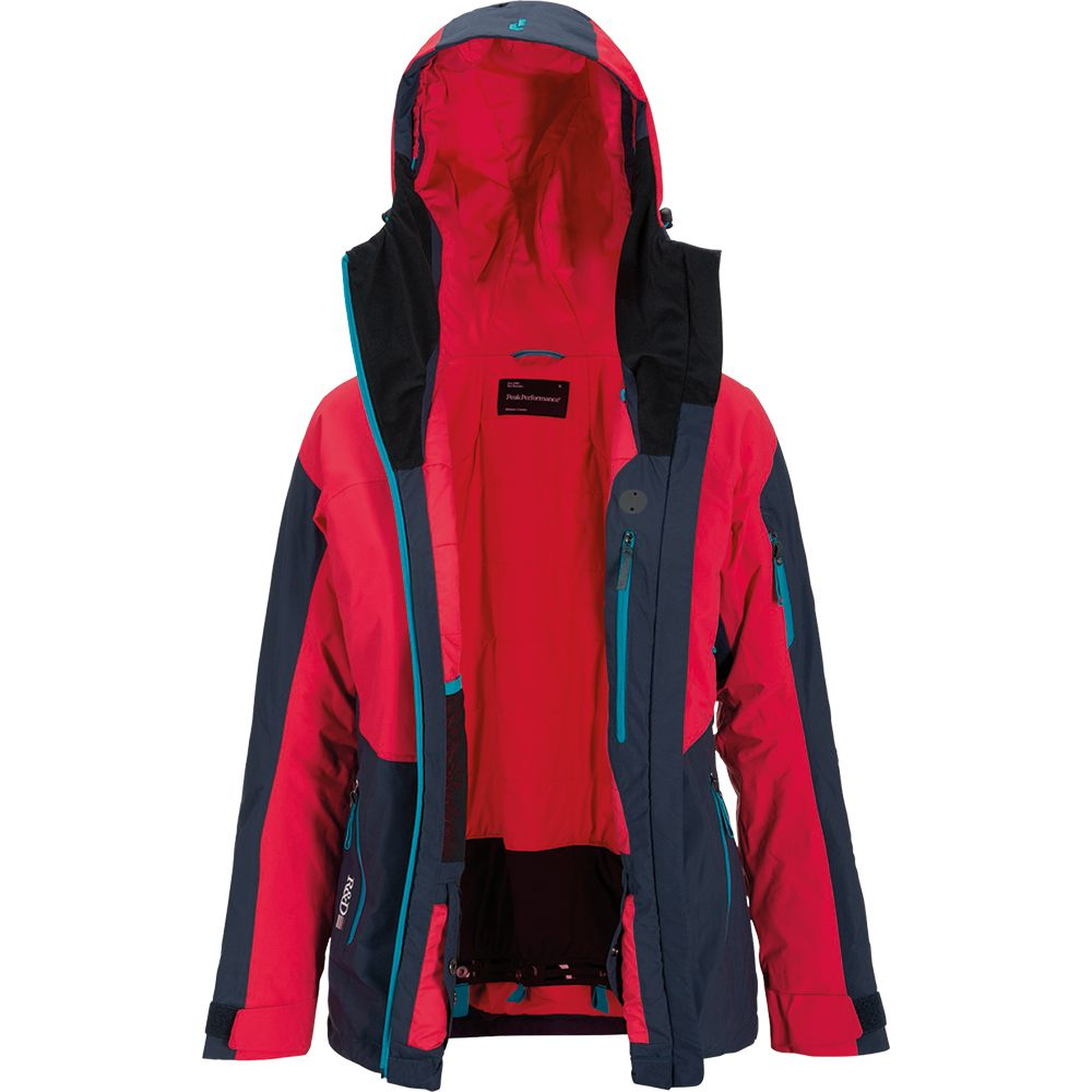 Peak Performance Heli Gravity Jacket Women red blue at
