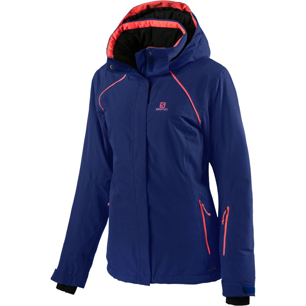 Salomon Strike Snowjacket Women blue at Sport Bittl Shop