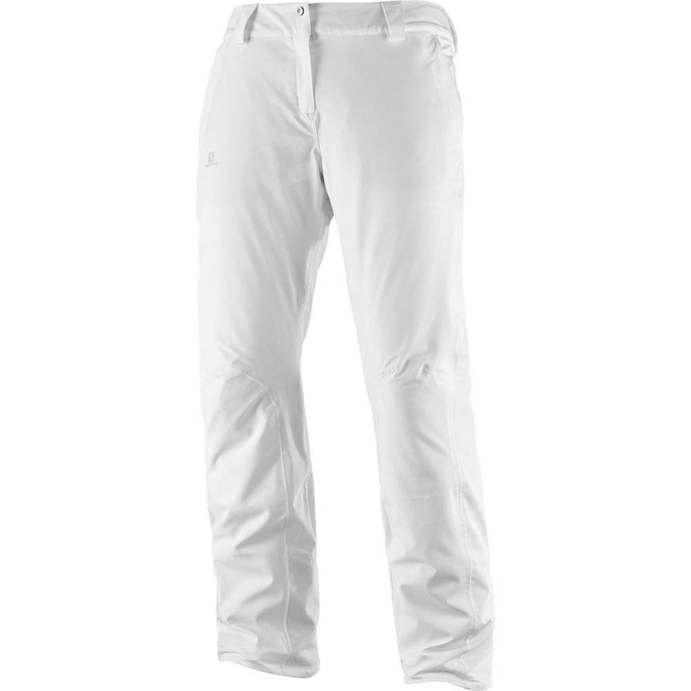 Salomon Icemania Hardshell Ski Pant Women white at Sport