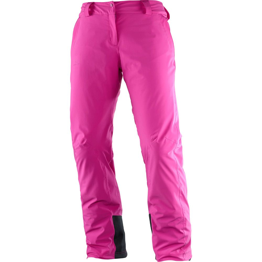 Salomon Icemania Hardshell Ski Pant Women rose violet at