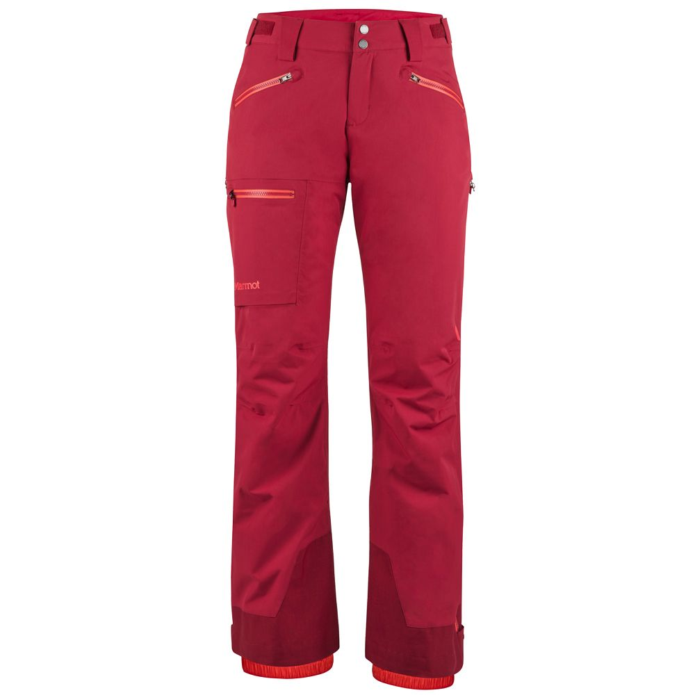 Marmot Refuge Ski Pants Women sienna red at Sport Bittl Shop
