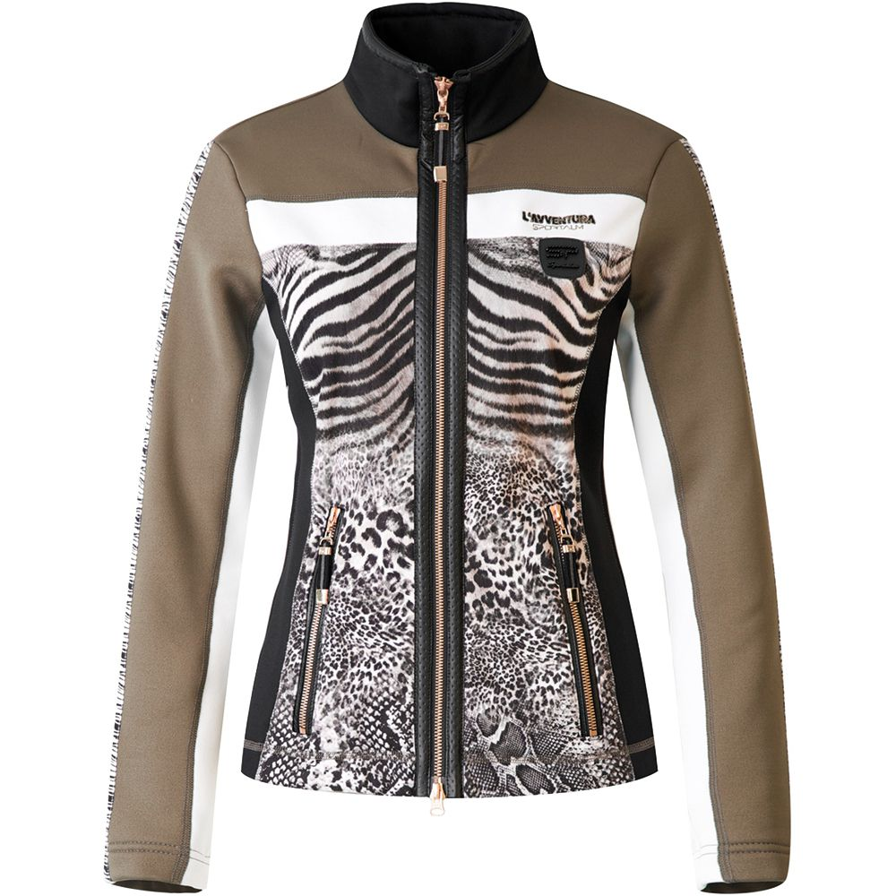 sportalm bomani fleece jacket damen animal print kaufen im sport bittl shop. Black Bedroom Furniture Sets. Home Design Ideas