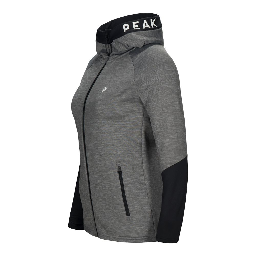 Peak Performance Ride Melange Hooded Jacket Men grey
