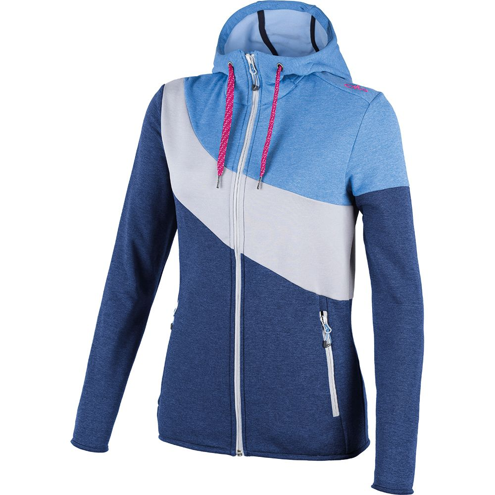 CMP - Stretch Performance Fix Hood Jacket Women nautico melange at ... 121e77d2f1