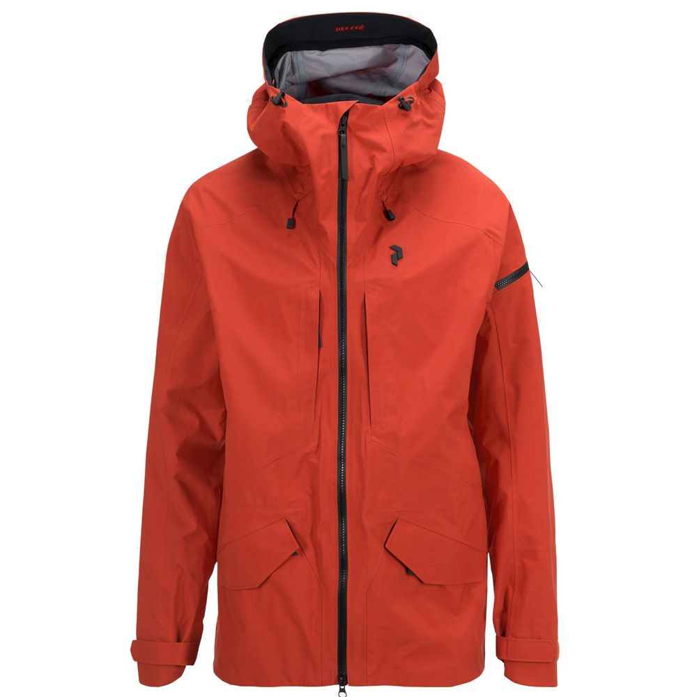 big sale 12ed2 ae9d4 Peak Performance - Teton Hardshell Jacke Herren orange planet