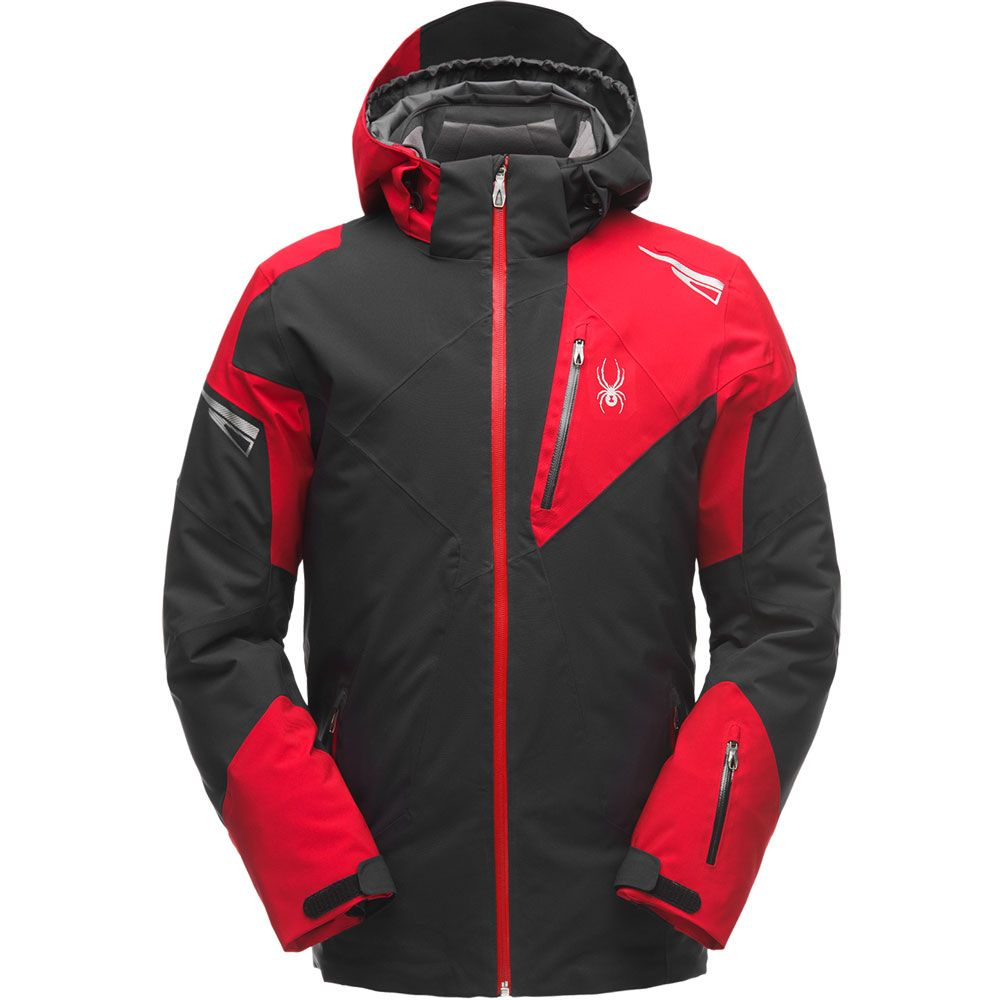 Spyder Leader Ski Jacket Men black red at Sport Bittl Shop