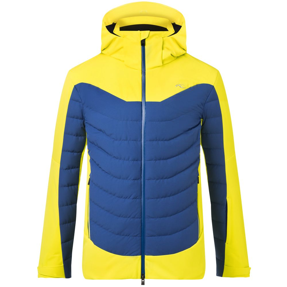 blue KJUS yellow citric Ski Men Sight Line Jacket IgYfbyv67