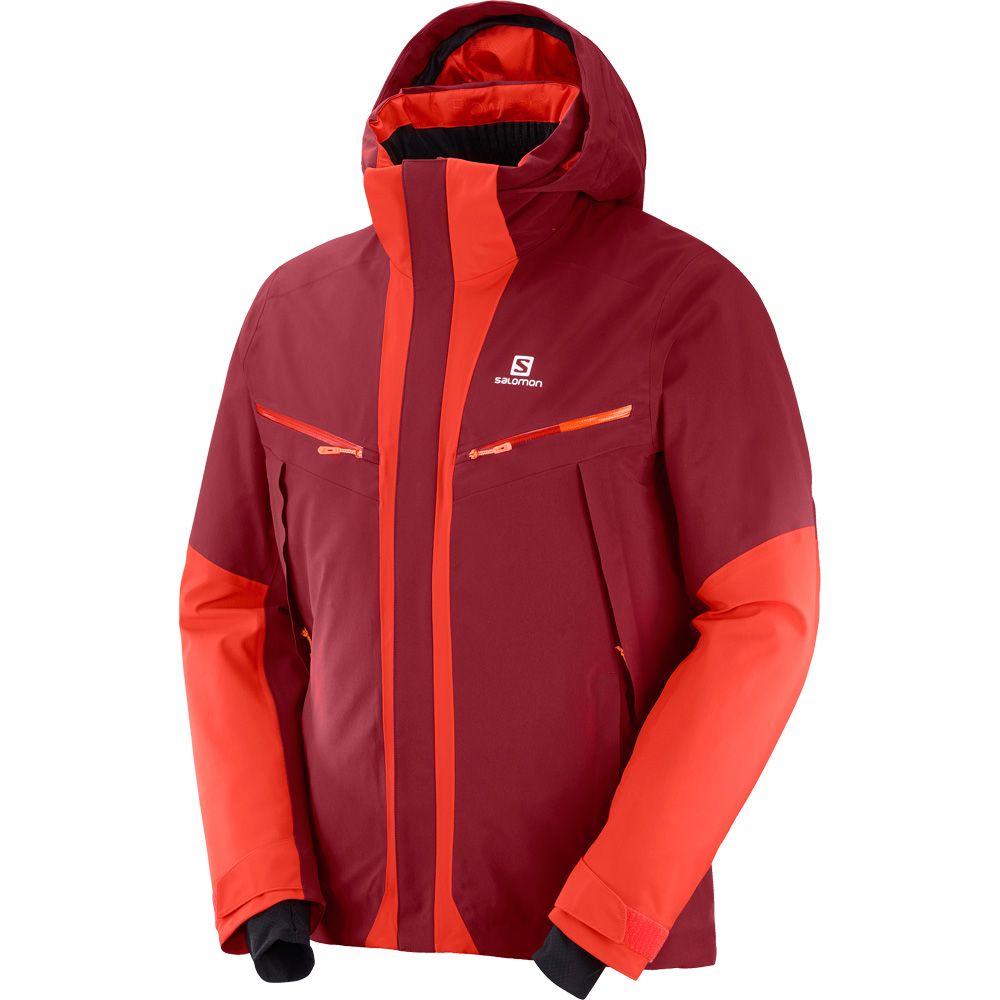 Salomon Icecool Skijacke Herren biking red fiery red