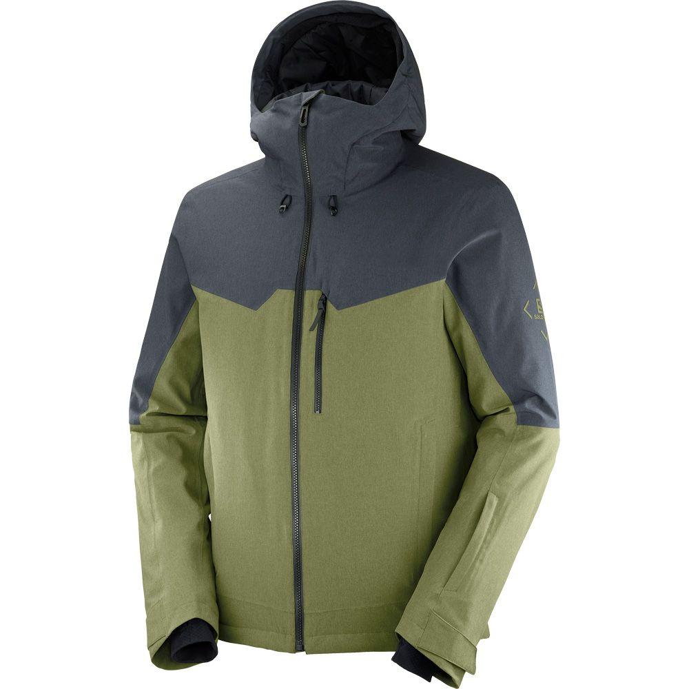 Untracked Ski Jacket Men martini olive ebony heather