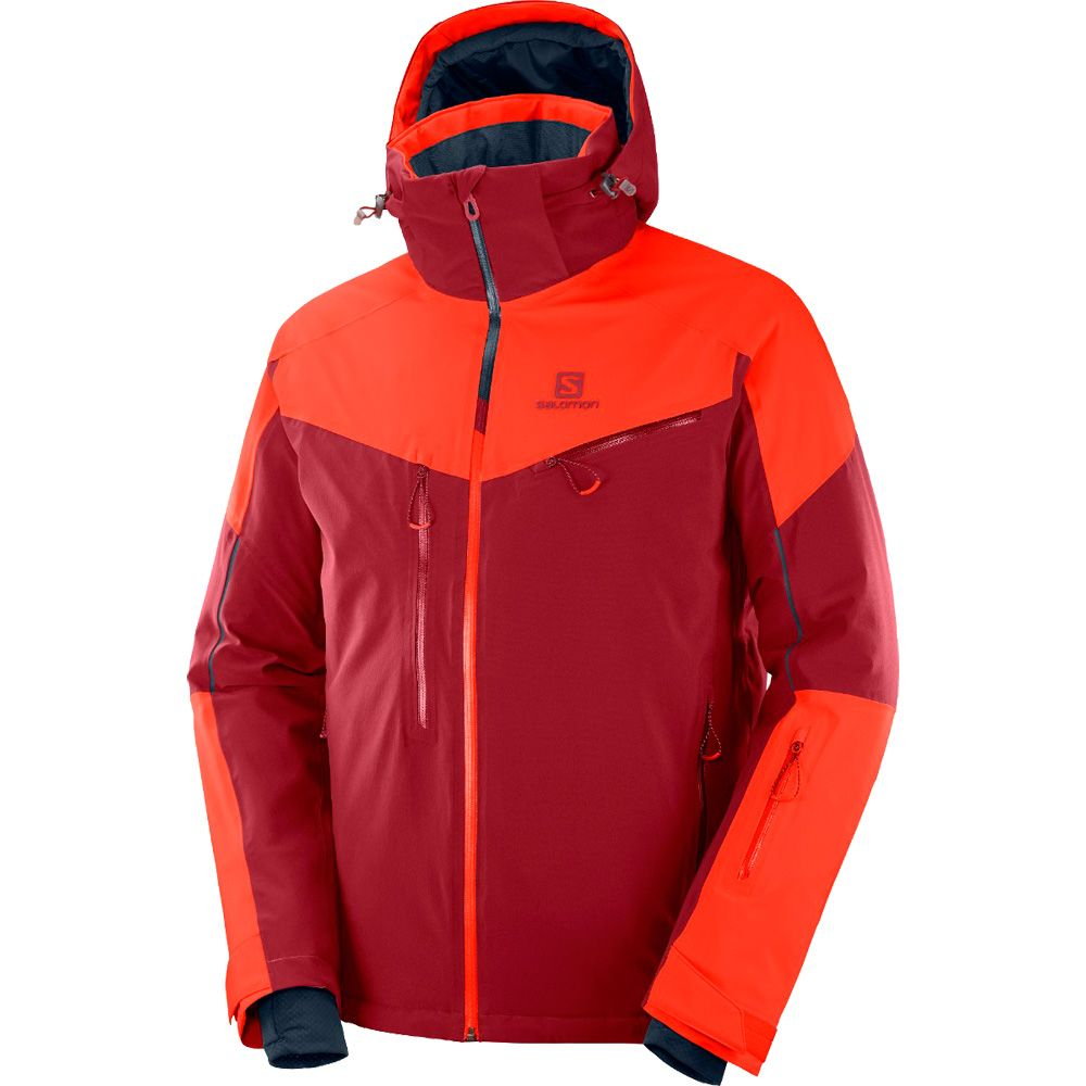 Salomon Icefrost JKT M Skijacke Art 403805 Fiery Red Gr M NEU S