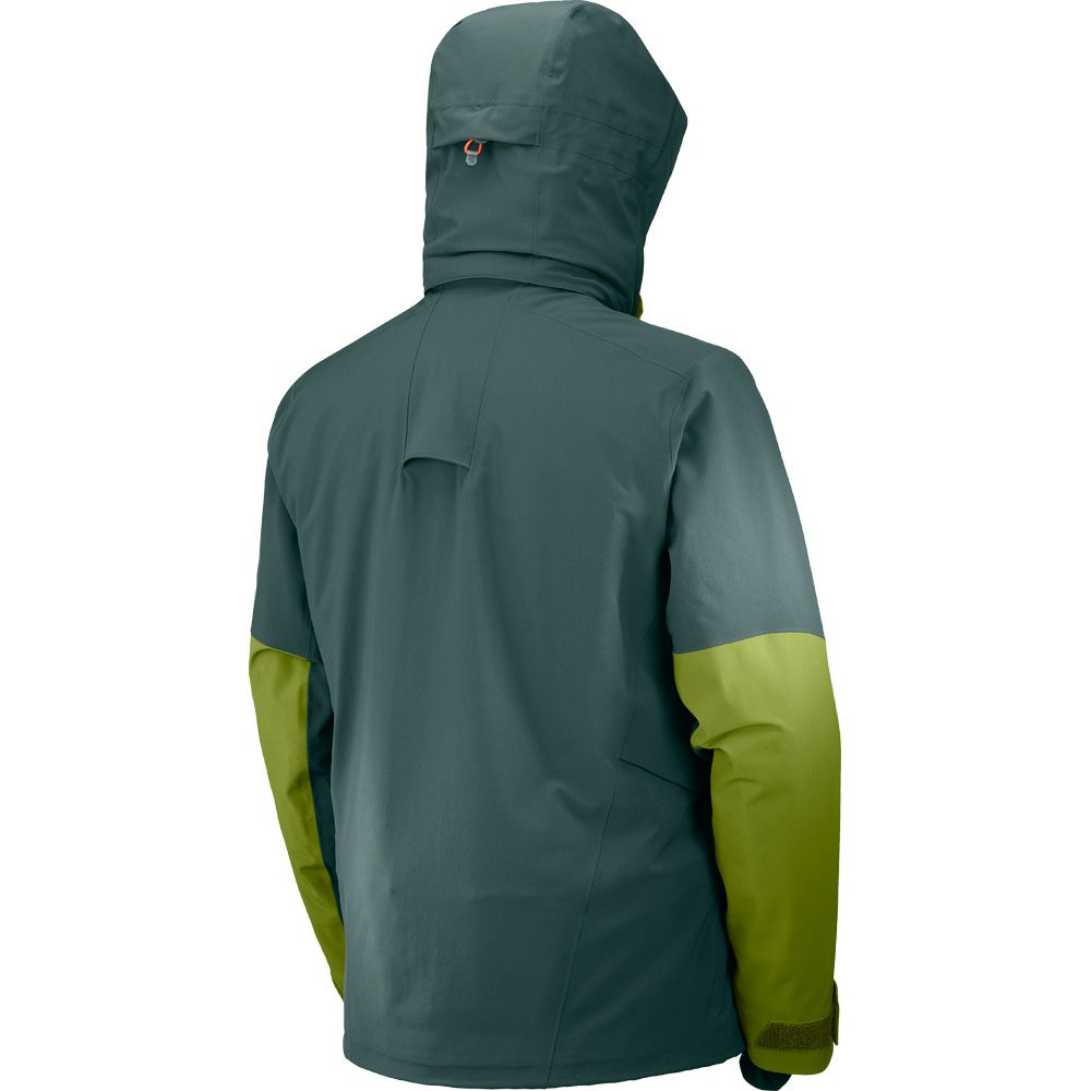 Salomon Icecool Jacke Herren green gab avocado