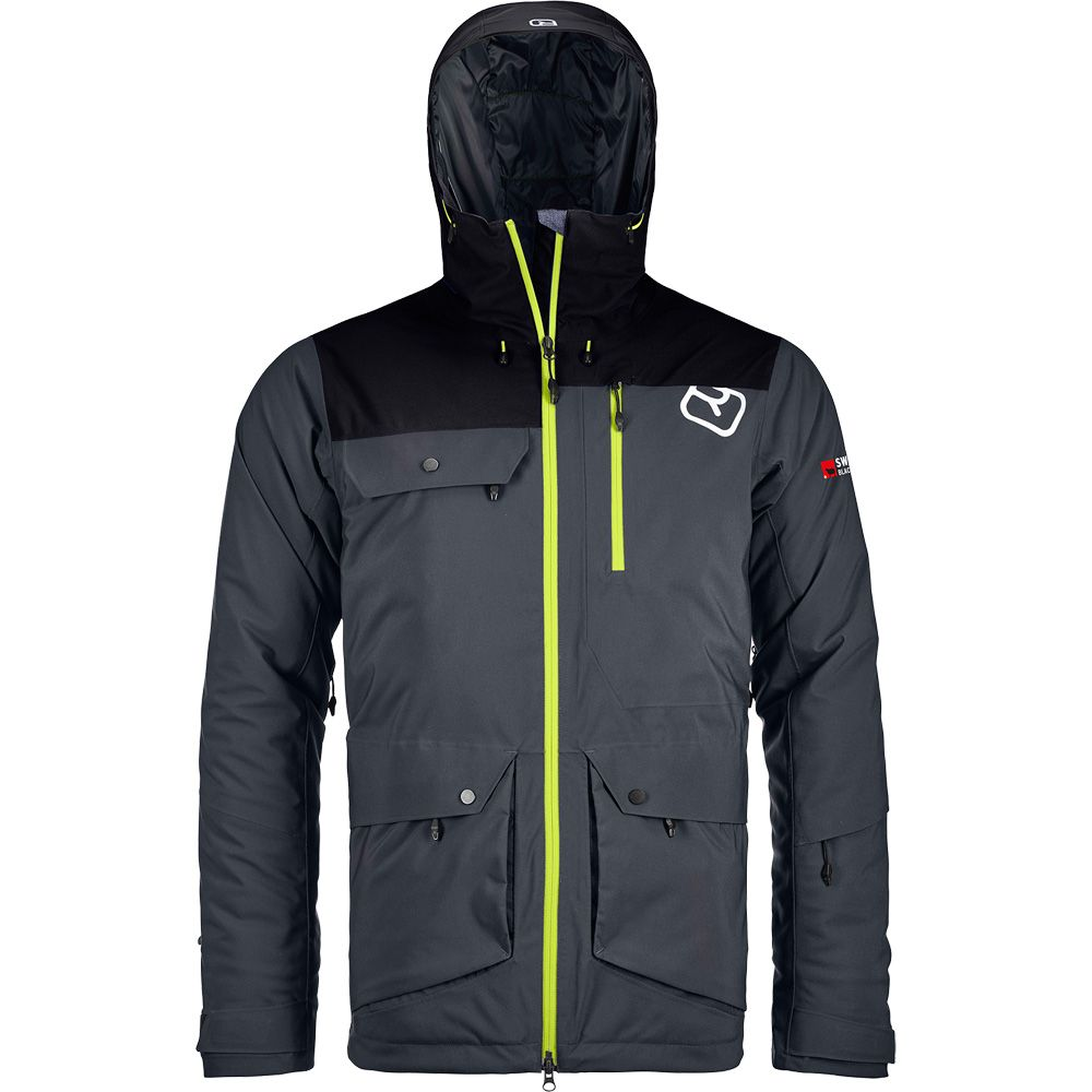 2L Swisswool Andermatt Jacket Herren black steel