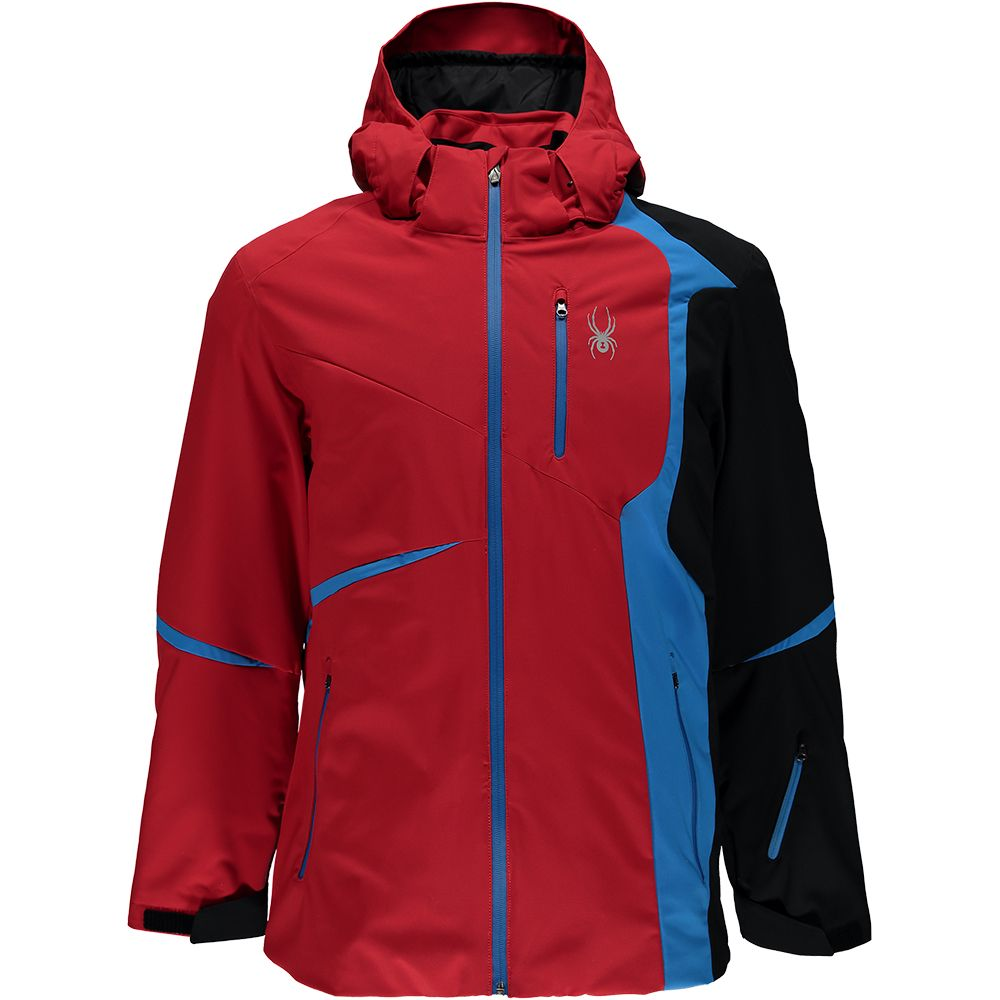 94a95d2fa0457 Spyder - Gstaad Jacket Men red black french blue at Sport Bittl Shop