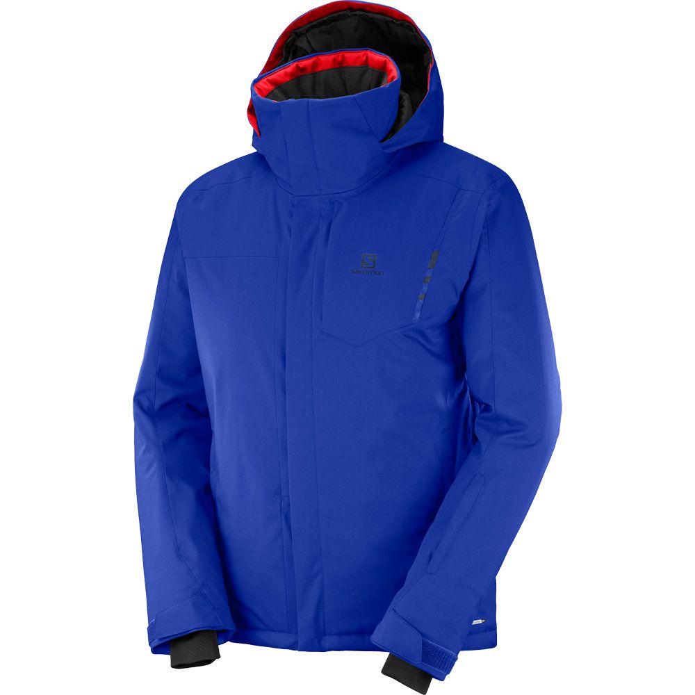 Salomon Open Hardshell Jacke Herren blau