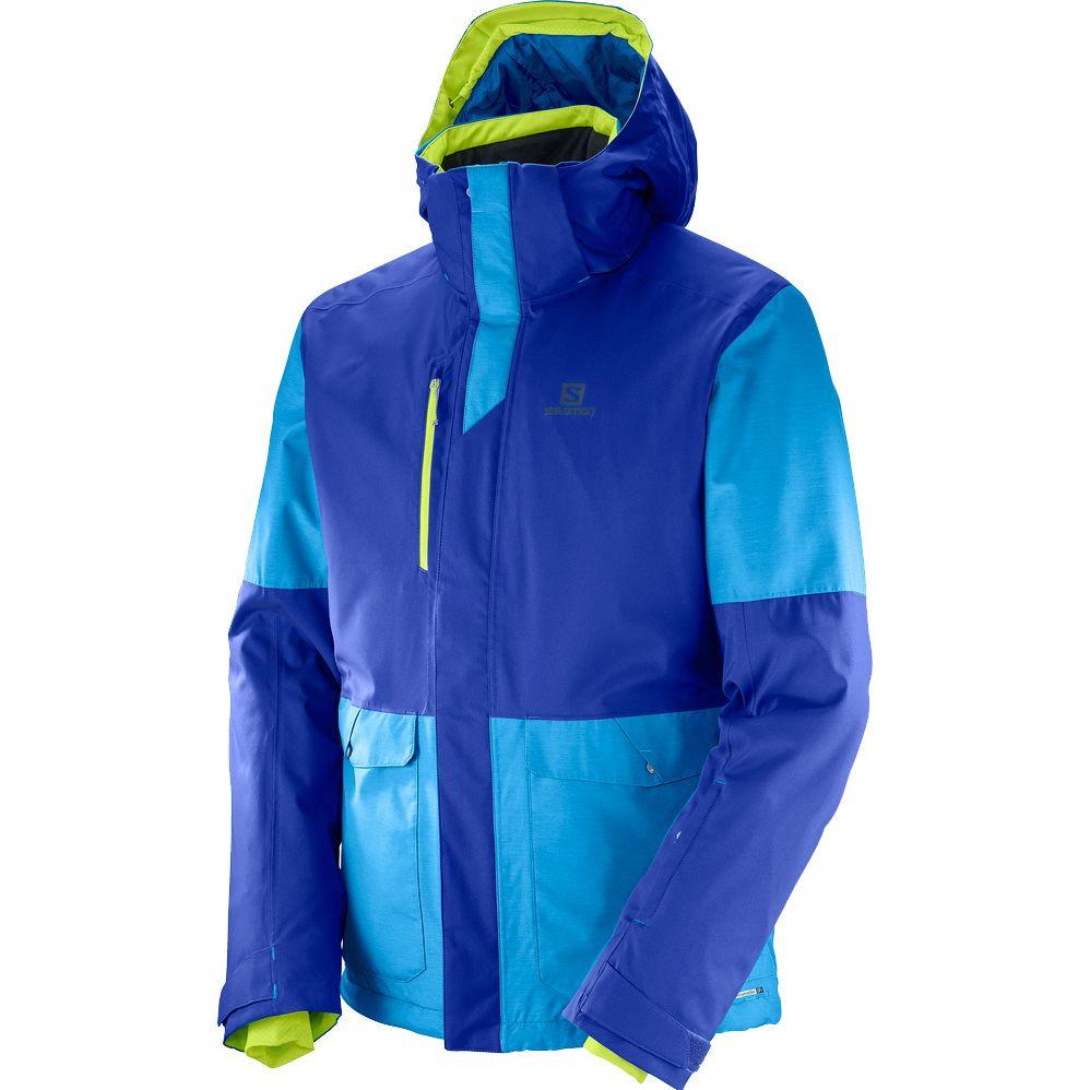 Salomon Open Hardshell Jacke Herren blau kaufen im Sport