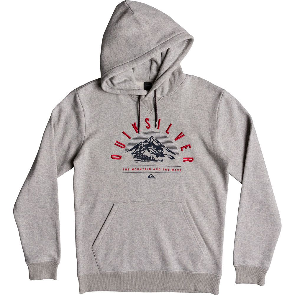 Quiksilver Mens Big Logo Snow Hoodie Fleece Jacket