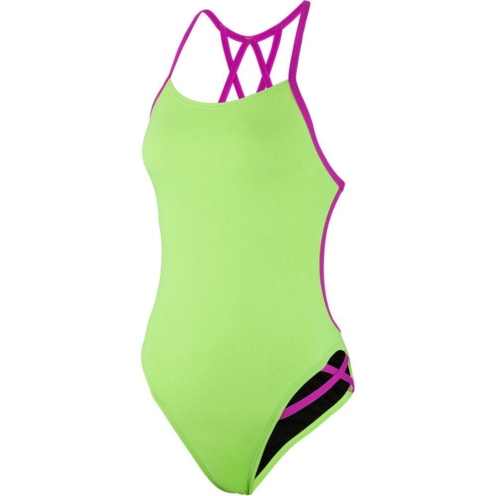 d11b40af96ec50 Speedo - Neon Freestyler Badeanzug Damen green/pink kaufen im Sport ...
