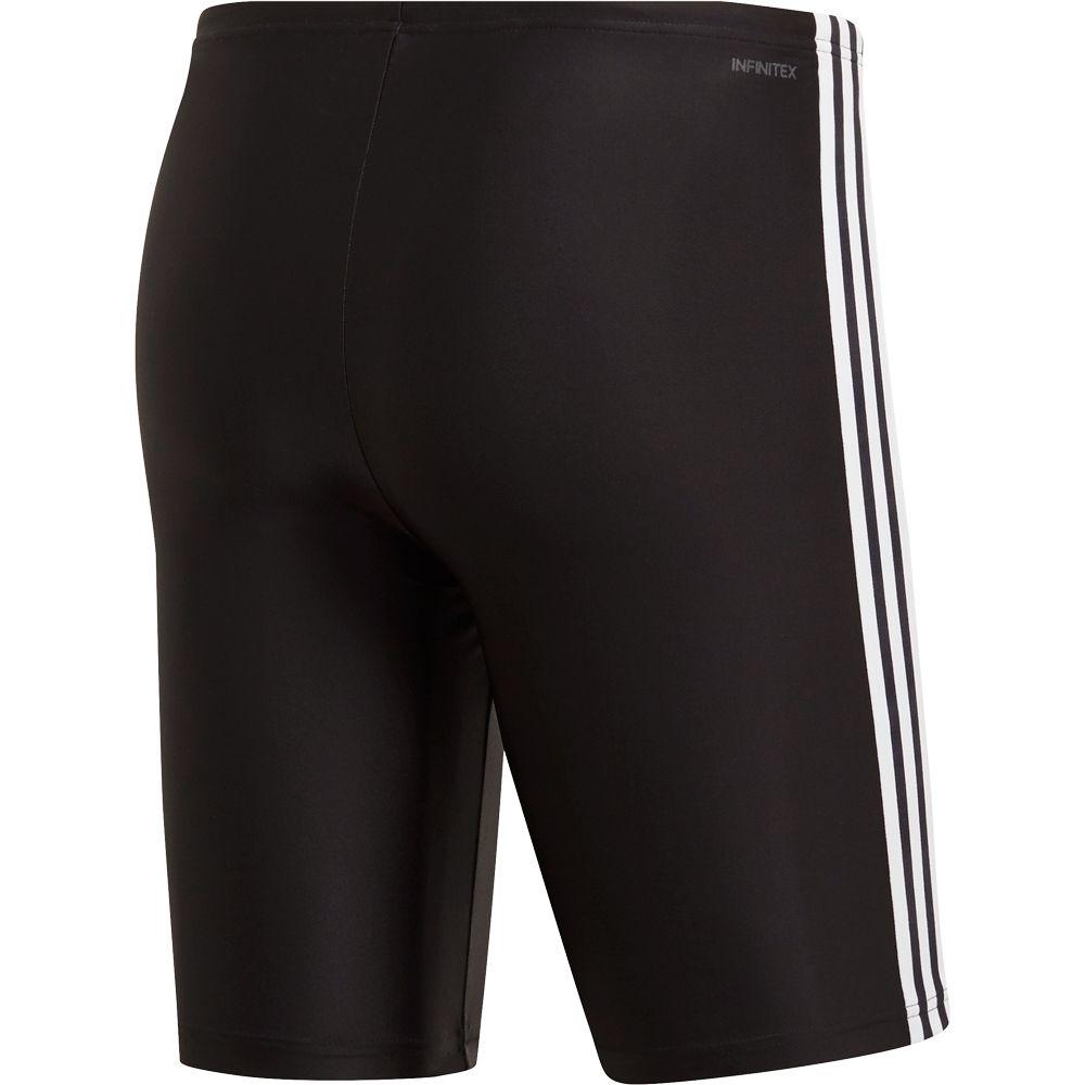adidas 3 Streifen Boxer Badehose Herren schwarz weiß