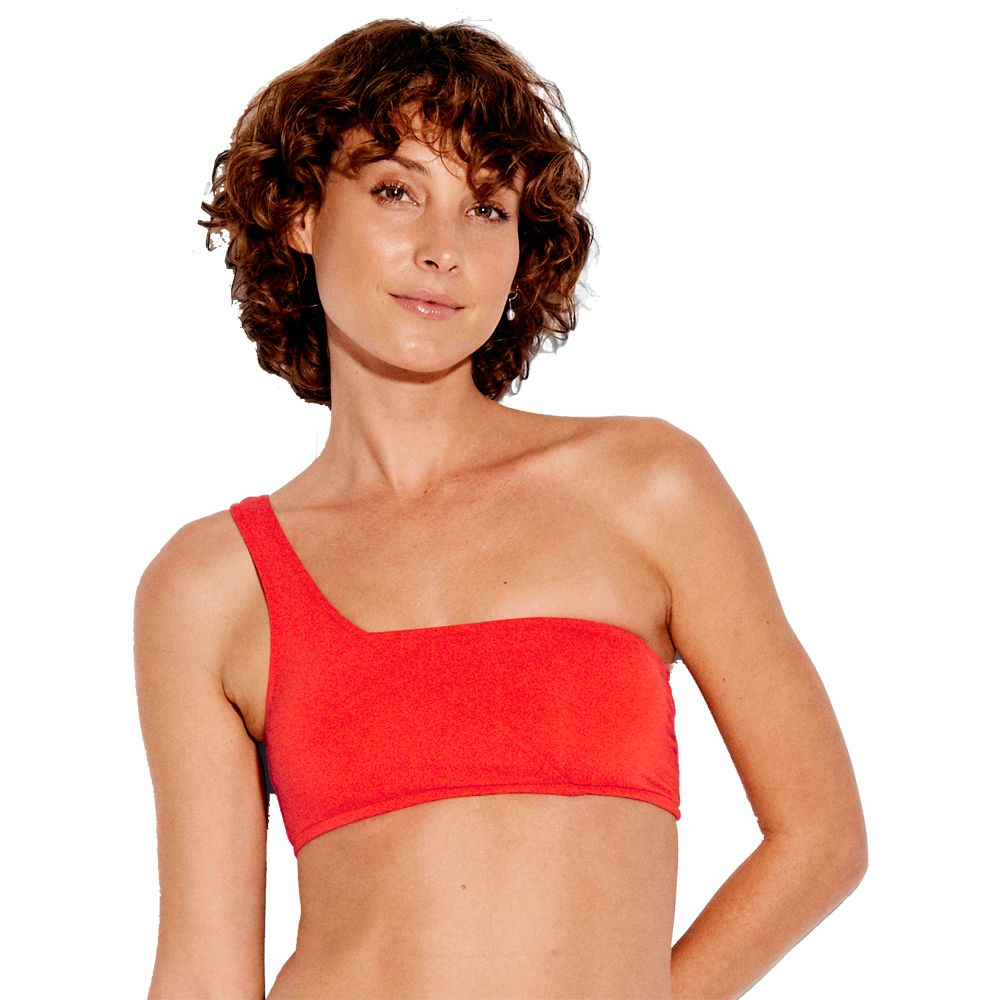 11e7c32cd5 Seafolly - Active One Shoulder Bandeau Bikini Top Women tangelo at ...