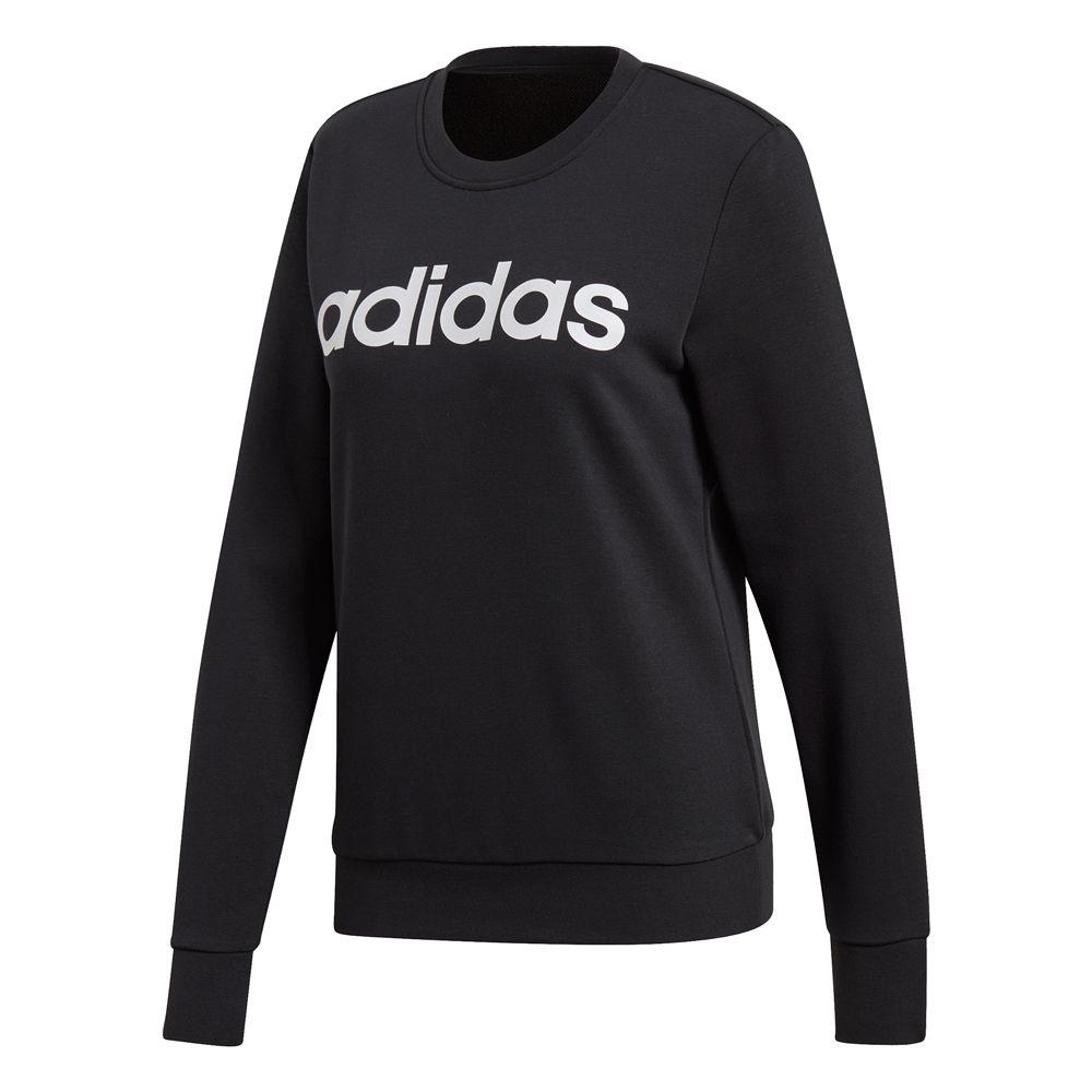 a692e52e47f8e adidas - Essentials Linear Sweatshirt Damen schwarz weiß kaufen im ...
