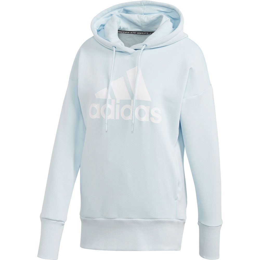 adidas Badge of Sport Long Hoodie Women sky tint white