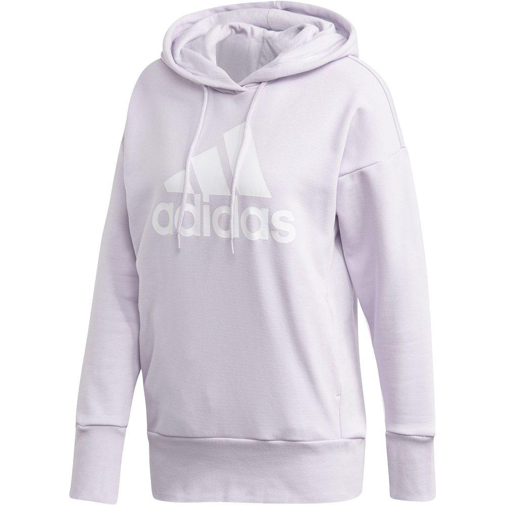 adidas - Badge of Sport Long Hoodie Women purple tint white ...