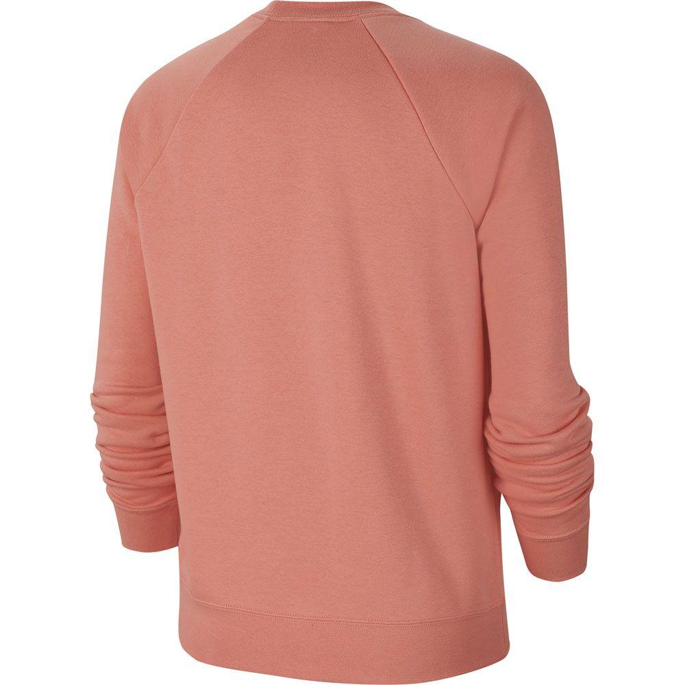 Essential Damen quartz white Fleece Crew Sportswear pink Nike Sweatshirt R3AL54j