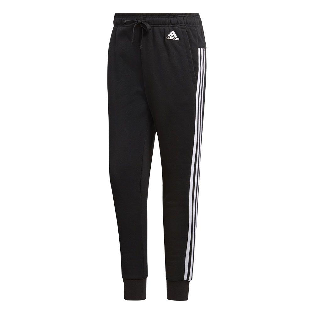 adidas - Essentials 3 Stripes Tapered Pants Women black ...