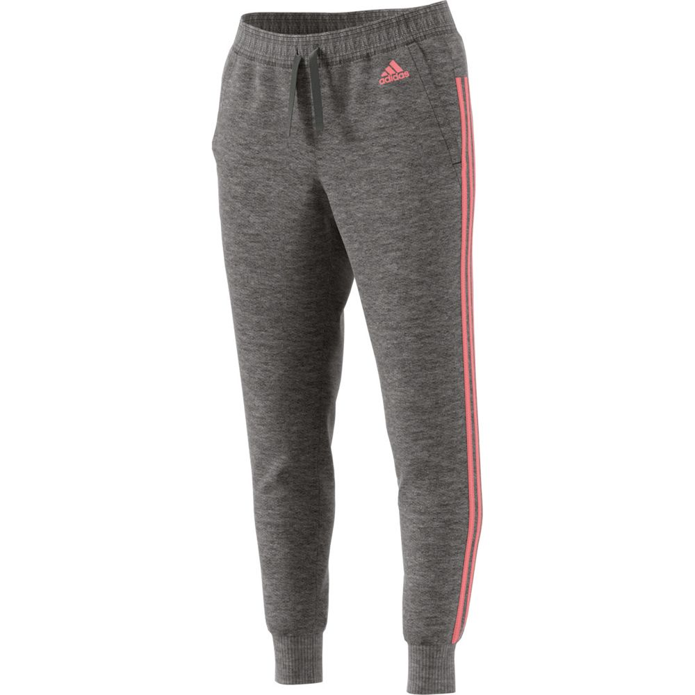adidas - Essentials 3 Stripes Tapered Pants Women dark grey ...