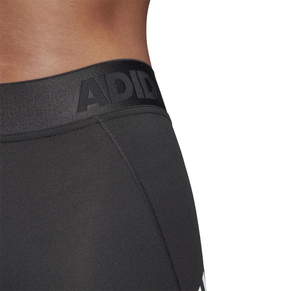 adidas Alphaskin Sport 3 Stripes Long Tights Women black