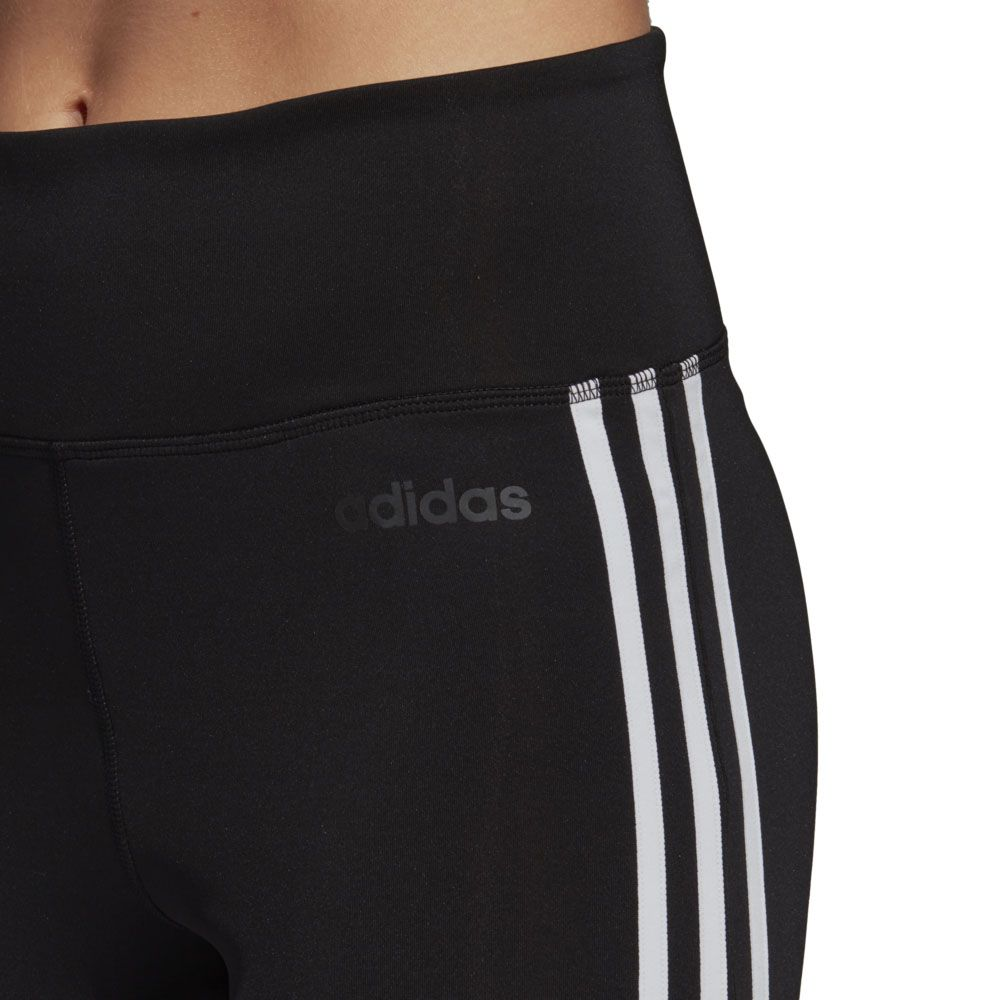 bb18025fc71 adidas - Design 2 Move 3-Stripes High-Rise Long Tights Women black ...