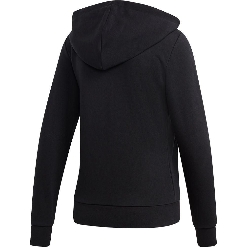 adidas Essentials Linear Kapuzenjacke Damen schwarz weiß
