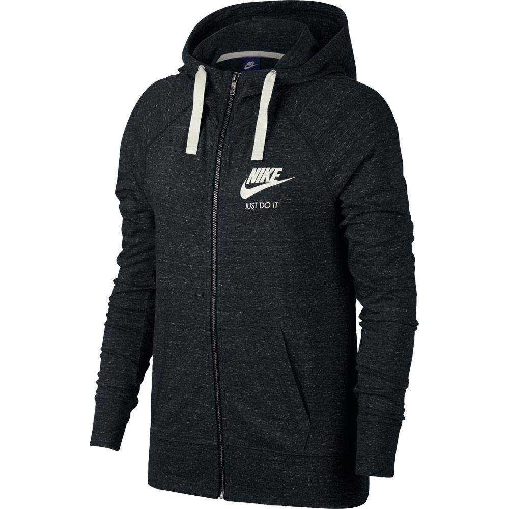 brand new 1c6e9 69716 Nike - Sportswear Gym Vintage Hooded Jacket Women black sail