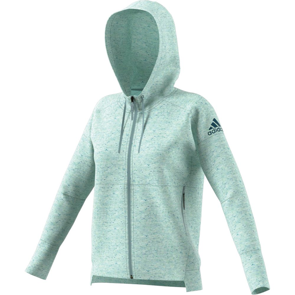 Adidas hoodie teal women's size XL soft In good condition