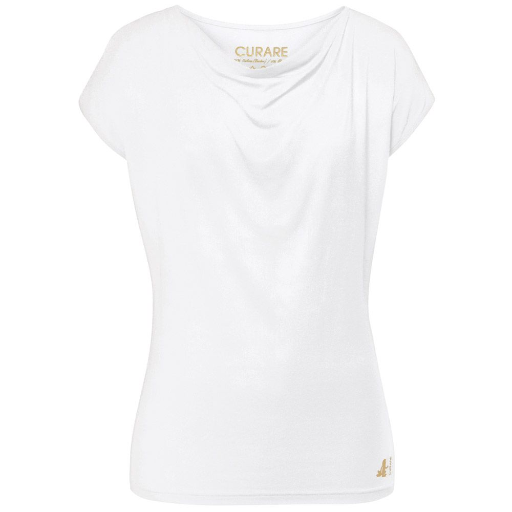 0926f4873d59f Curare - Flow #9130 Wasserfall Shirt Damen weiß gold kaufen im Sport ...