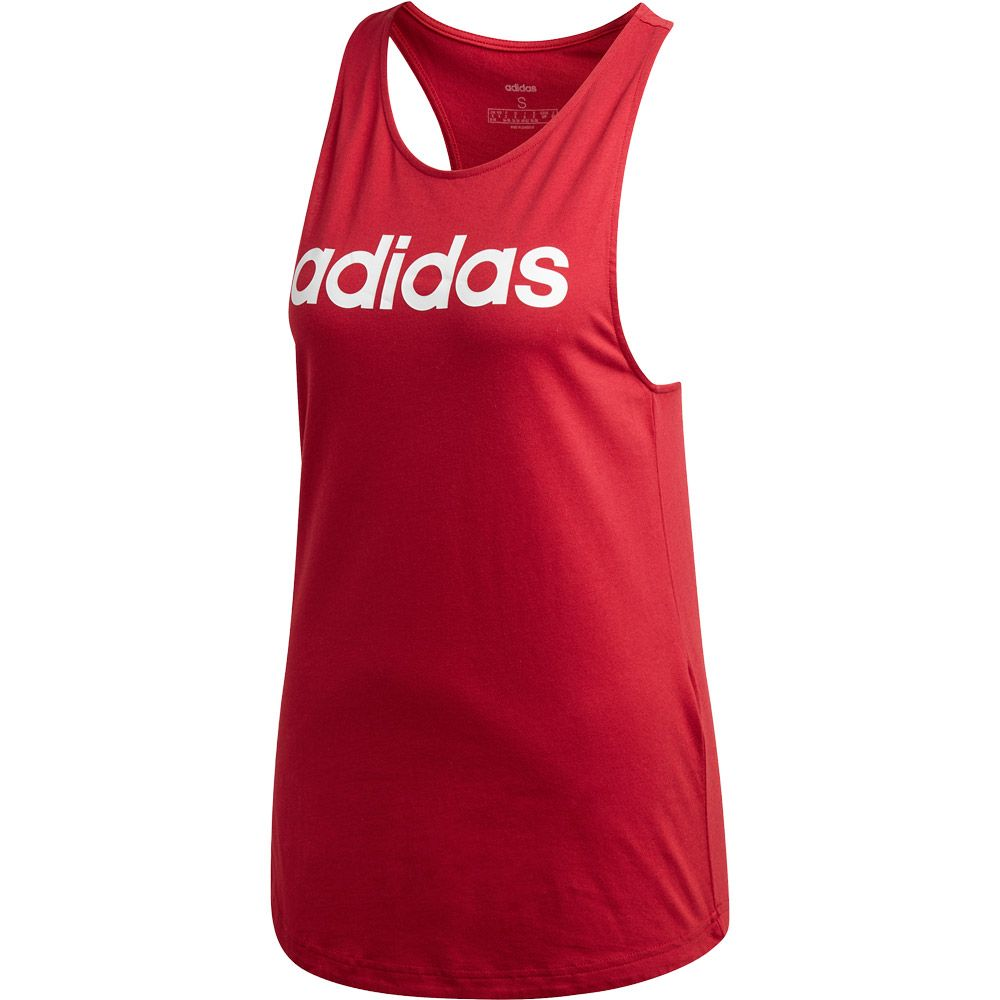 adidas Essentials Linear Tanktop Damen active maroon white