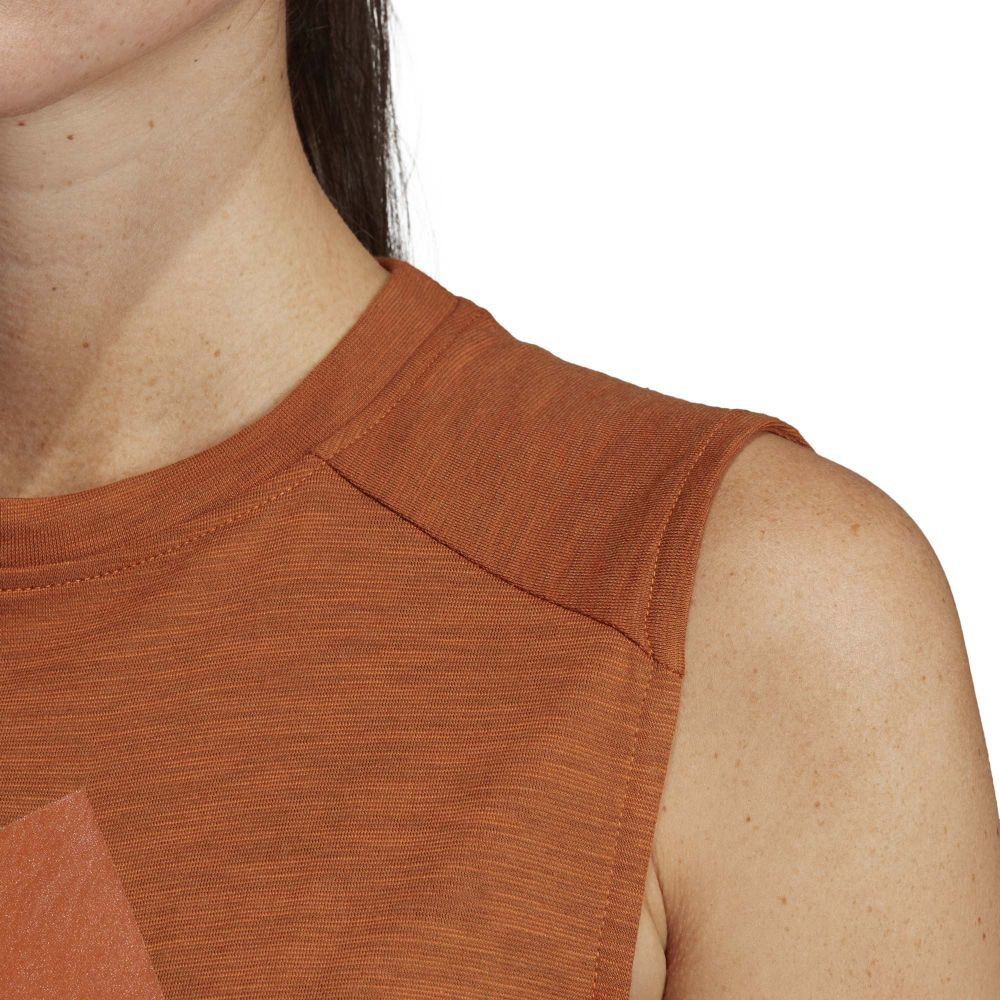 adidas ID Winners Muscle T shirt Women tech copper at
