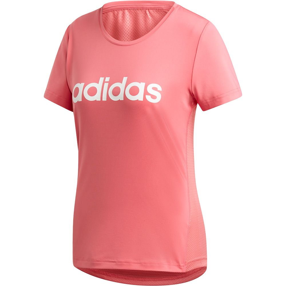adidas Design 2 Move Logo T Shirt Damen bliss pink white