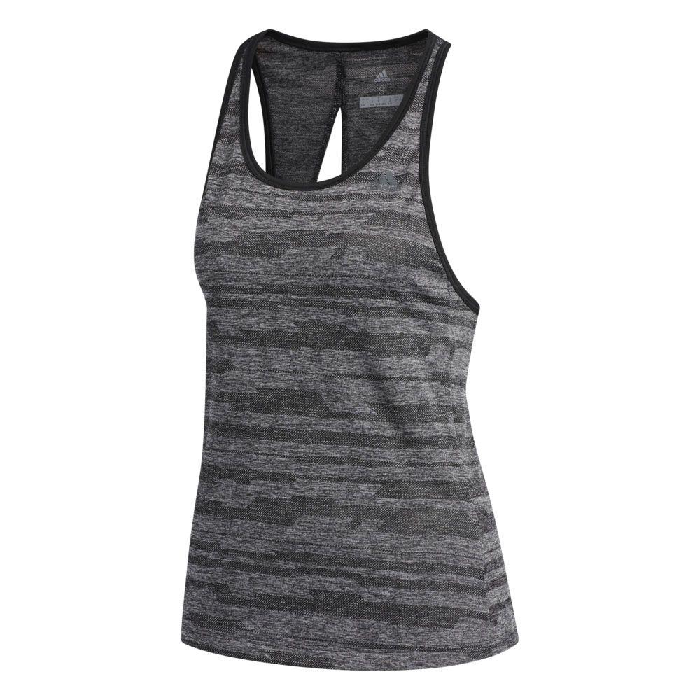adidas Jacquard Tanktop Damen schwarz