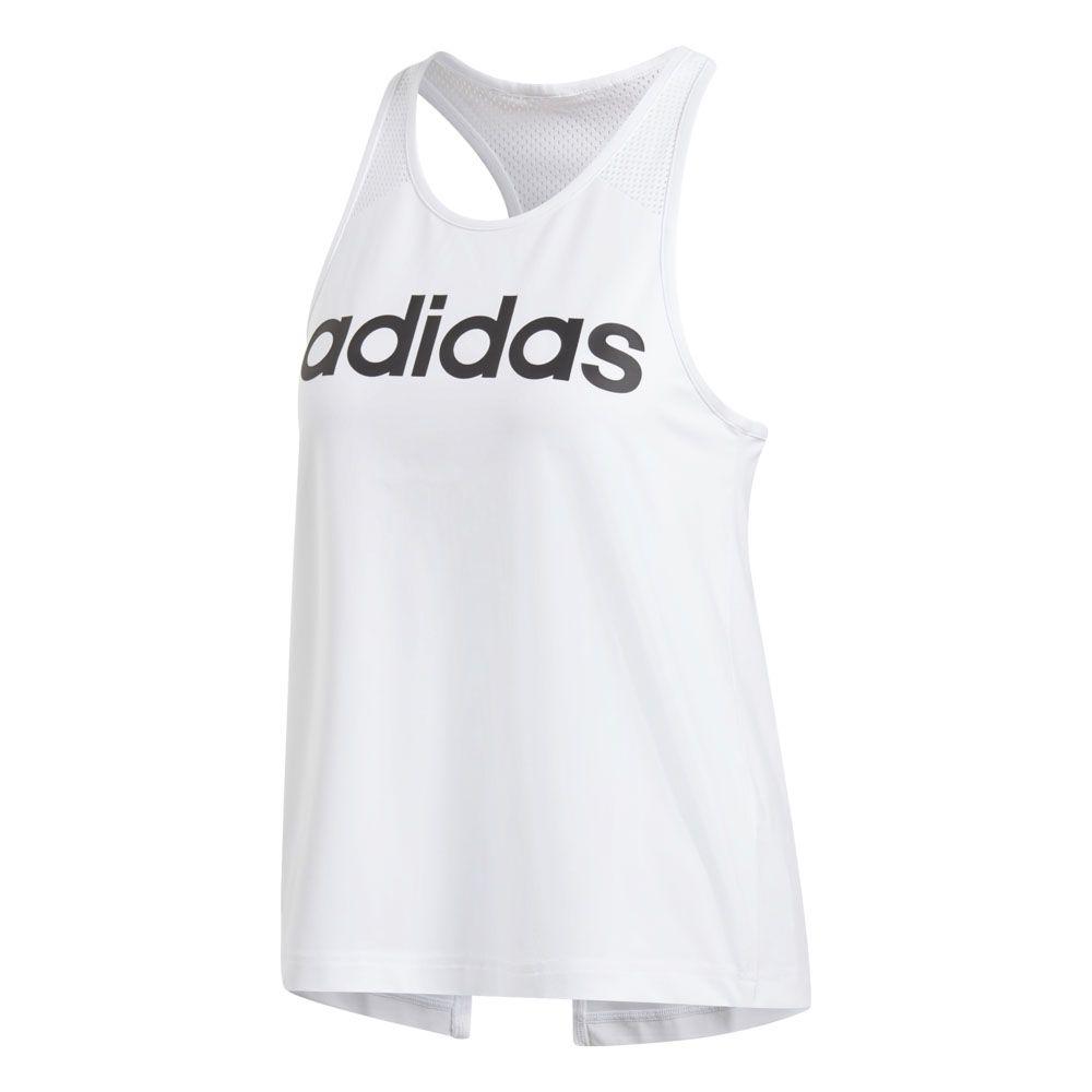 8371eeaf62faa adidas - Design 2 Move Logo Tank Top Women white black at Sport ...