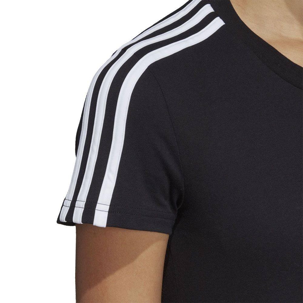 adidas - Essentials 3-Stripes T-shirt Women black white at ...