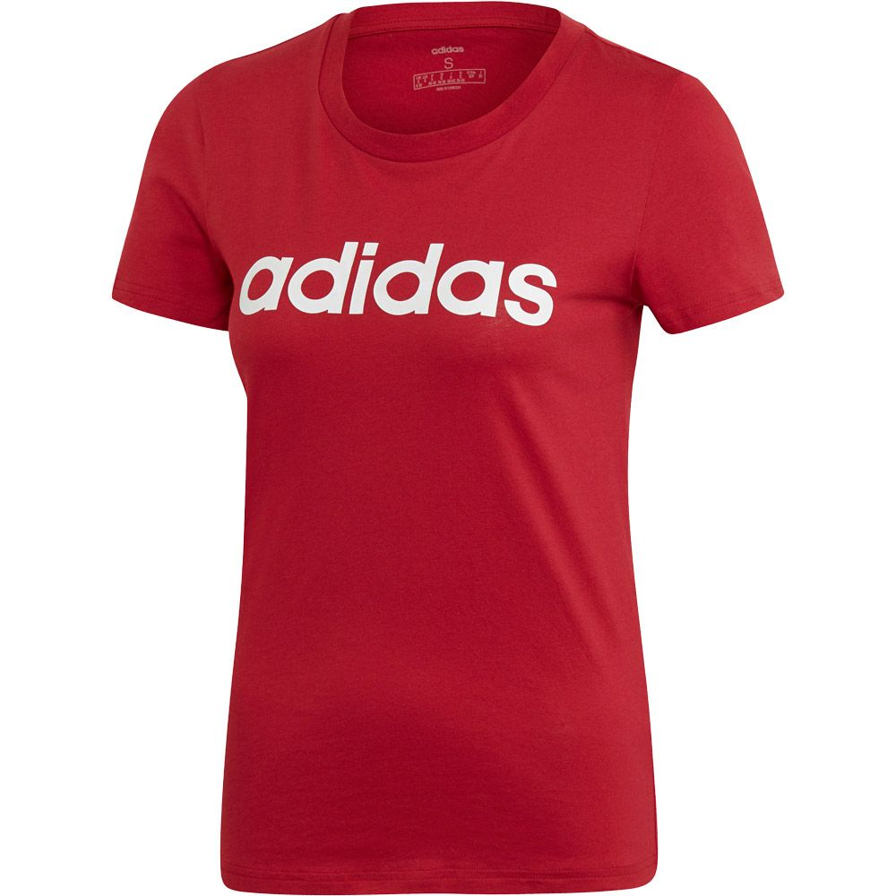 adidas Essentials Linear T shirt Women active maroon white