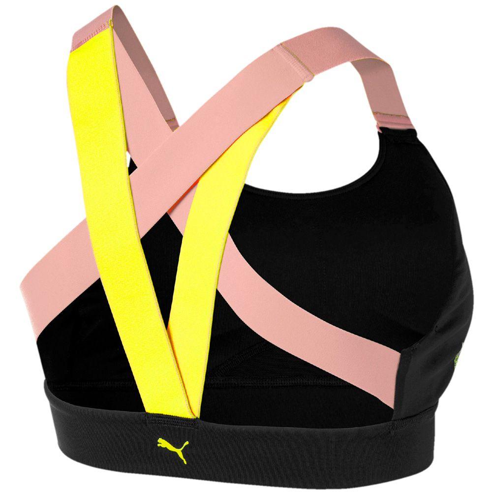 Puma Feel It M Sports Bra Damen puma black bridal rose yellow