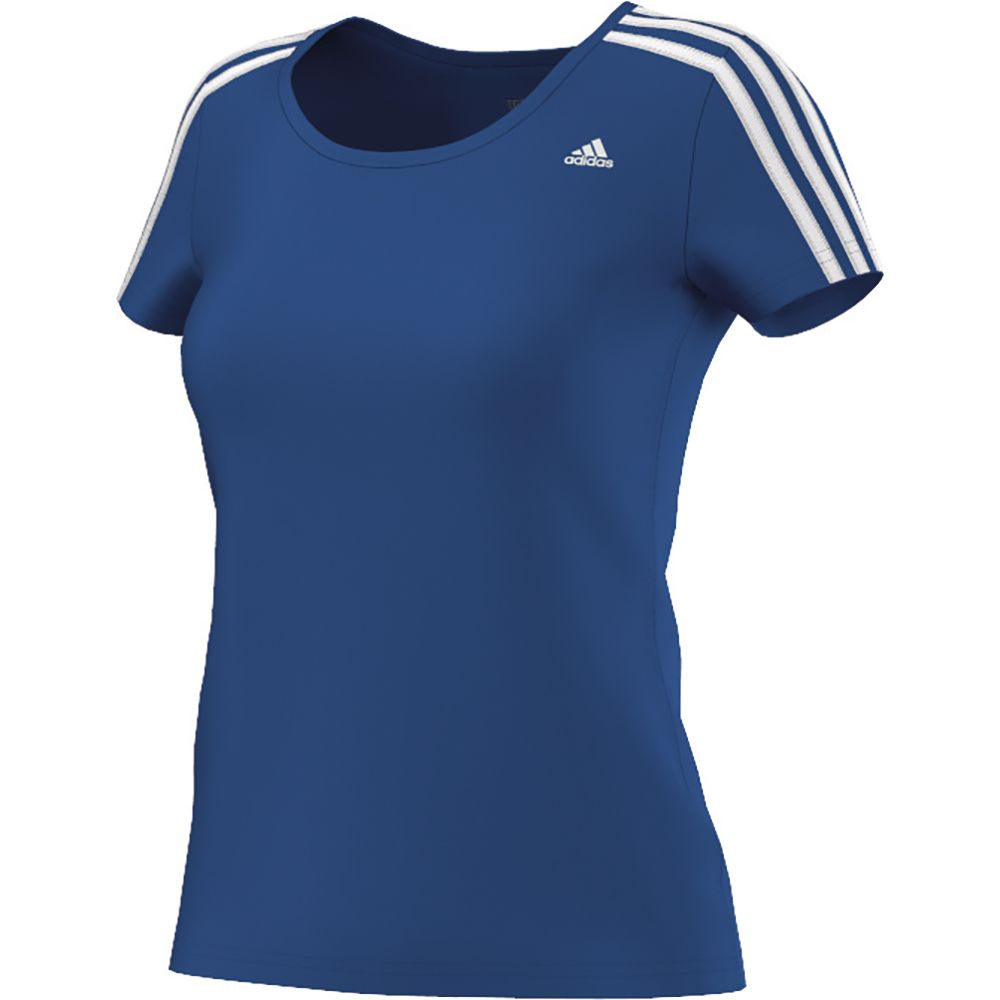 95e48c6d6ff adidas - Essentials 3 Stripes Tee Women blue white at Sport Bittl Shop