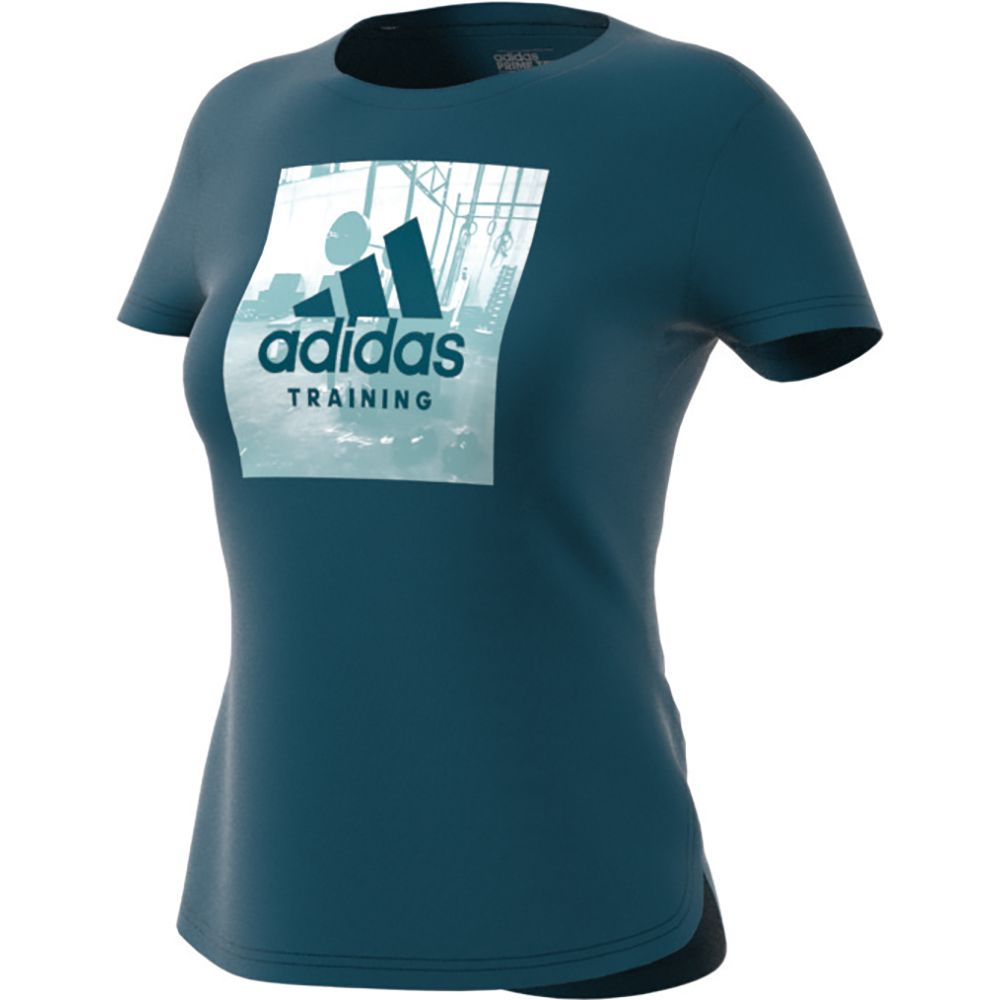 WOMEN/'S ADIDAS GRAPHIC BLUE WORKOUT T-SHIRT