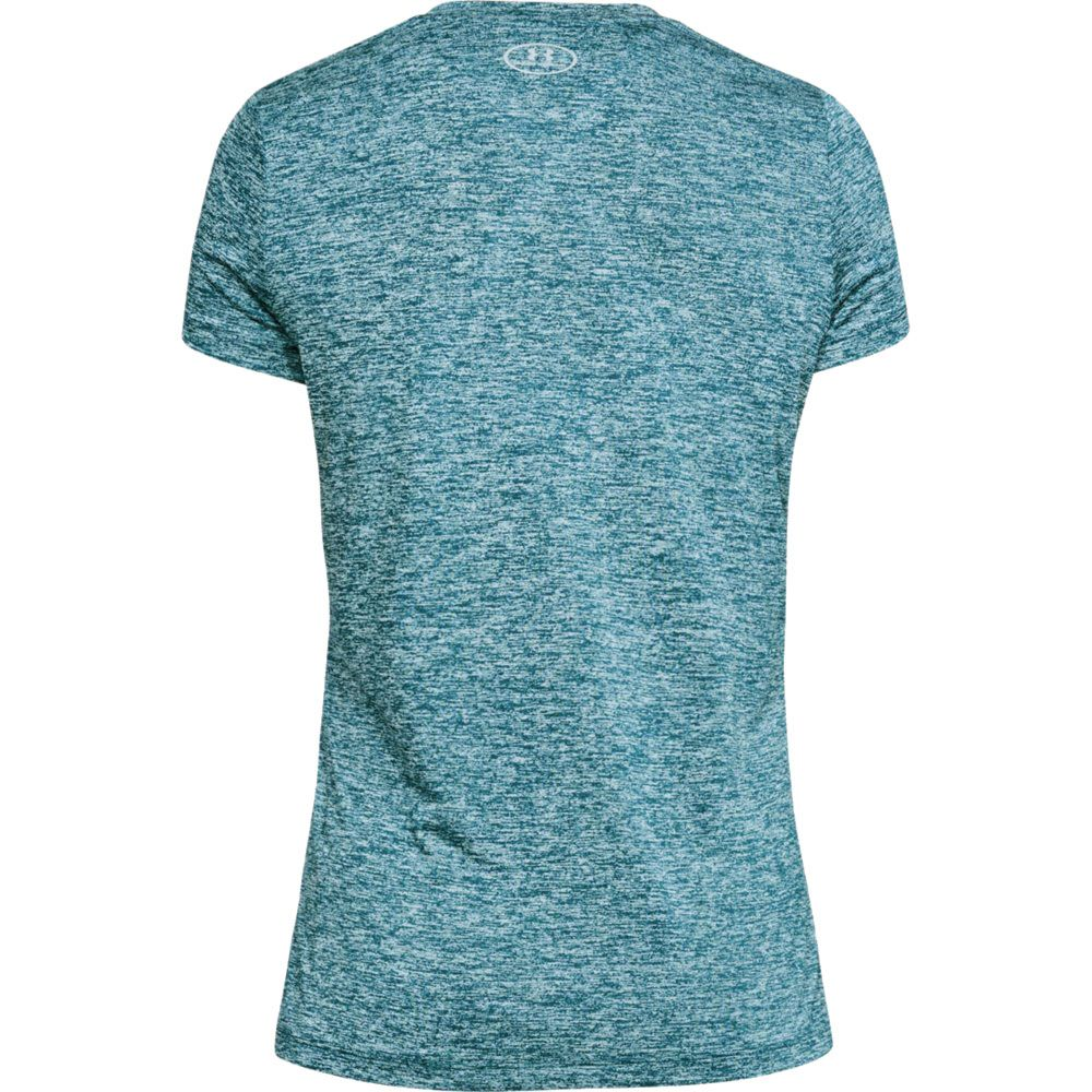 eb2b6f62625340 Under Armour - UA Twist Tech™V-Neck T-Shirt Women petrol at Sport ...
