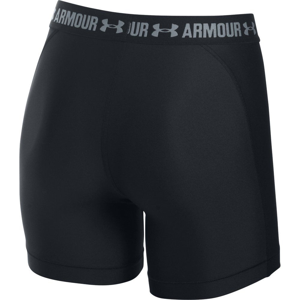 under armour middy shorts heatgear armour damen schwarz. Black Bedroom Furniture Sets. Home Design Ideas